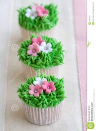 flower garden cupcakes stock image image of line pink 12591477