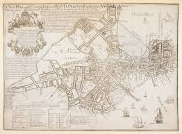 Map Copley Square Boston by A New Plan Of Ye Great Town Of Boston In New England In America