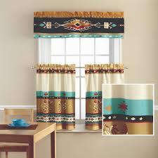 Kokopelli Home Decor by Mainstays Kokopelli Printed Valance And Kitchen Curtains Set
