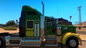 trucking companies with kenworth w900 w900 john deere skin for american truck simulator