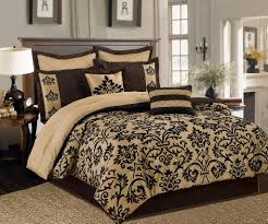 Damask Comforter Sets Brown And Cream California King Bedding Sets With Damask Bedding