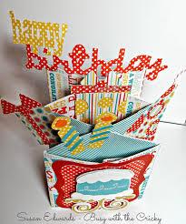 Cricut Birthday Card Busy With The Cricky Cascade Birthday Cards