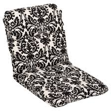 outdoor seat pad dining bistro cushion black white floral target