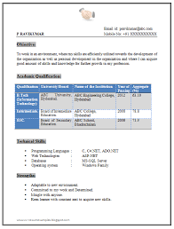 Asp Net Resume Sample by Over 10000 Cv And Resume Samples With Free Download 5 B Tech