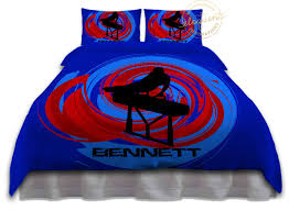 gymnastics bedding boys duvet cover blue u0026 red gymnast bedding