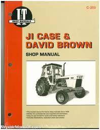 ji case and david brown farm tractor service manual