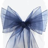 navy blue chair sashes organza chair sashes chair ribbons chair bows ties
