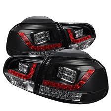 2011 vw cc led tail lights spyder auto led tail lights black 10 14 golf gti modded euros