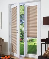 Patio Doors Blinds Doors White Framed Pleated Fit Blinds Blinds