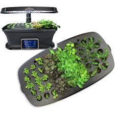 miracle gro aerogarden ultra led indoor garden with gourmet herb