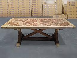 teak trestle dining table gardens fsc recycled teak trestle table 220x105cm 100