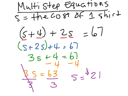 how to solve multi step equations tessshebaylo