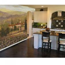 kitchen inspiring kitchen wall mural for kitchen decorating full size of kitchen fascinating ideas for decoration using landscape wall mural including black wood tall