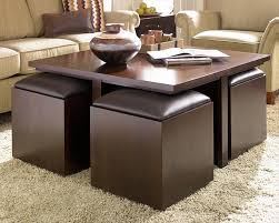 coffee table with pull out ottomans 5002