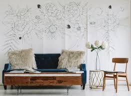 blooming garland mural wallpaper wall decor anewall
