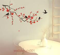 vinyl wall decals wall stickers tree decal sticker livingroom cherry blossom with birds vinyl wall decal sticker for nursey room 58 00