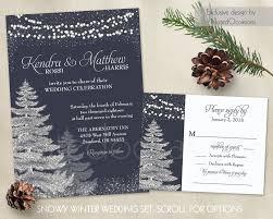 winter wedding invitation template set rustic christmas