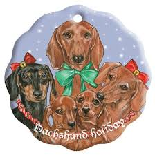 369 best dachshund christmas decorations images on pinterest