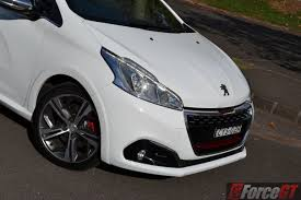 peugeot 208 gti blue 2016 peugeot 208 gti review