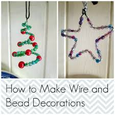 wire and bead christmas decorations tea and a sewing machine