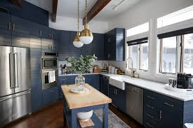 fixer blue kitchen cabinets fixer navy kitchen before after styled by kasey