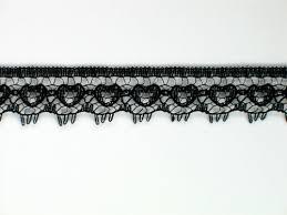 black lace ribbon black edge lace trim 0 5 bk0012e01 laceplace