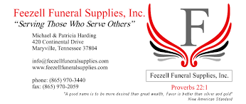 funeral supplies feezell funeral supplies maryville tennessee