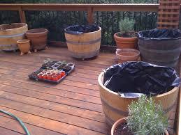 to prepare a half wine barrel planter hitchhiking to heaven