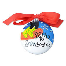 born to snowboard ornament ornaments