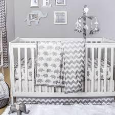 Grey Chevron Crib Bedding Set The Peanut Shell Ellie Chevron 4 Piece Crib Bedding Set U0026 Reviews