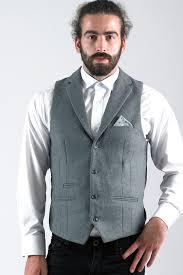 joe melton grey wool style collared waistcoat