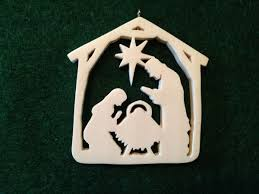 carved ivory manger ornament nantucket chronicle