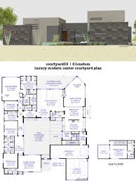 luxury villa floor plans house plan luxury modern courtyard house plan 61custom