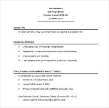 Personal Profile Resume Examples by 1 Page Resume Sample Best Resume Collection