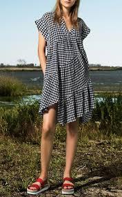 Gingham Vs Plaid Vs Tartan Gingham Ruffle Dress By Sea Moda Operandi
