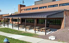 Standing Seam Awnings Commercial Metal Awnings Valley Awning U0026 Tent