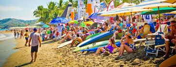 Nayarit Mexico Map by Sayulita La Playa De La Riviera Nayarit En Mira De Todos Beach