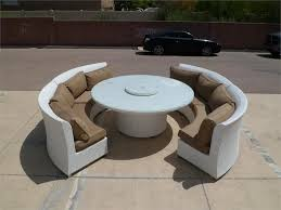 White Patio Dining Table And Chairs Nice Outdoor Dining Sofa Set Cassandra Ethereal White Round Dining