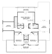 home theater floor plans traditional colonial country house plans home design ndg 667