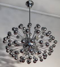 Sputnik Light Fixture by Chrome Multisphere Sputnik Chandelier Italy 1960s 62581