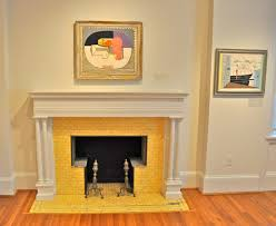 Yellow Fireplace Visual Treats At Dc U0027s Phillips Collection