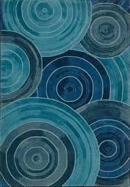 Kathy Ireland Rugs Shaw Rug With 3d Light Blue Spiral Design Contemporary Formal Casual Hand