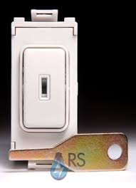 key operated light switch schneider ultimate 20ax dp key grid switch module white metal