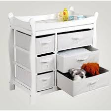 Sleigh Style Changing Table Badger Basket White Sleigh Style Changing Table With Six Baskets