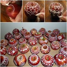 to diy sugar decorated apple for
