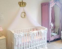 beautiful princess crib bows neutral baby bedding crib