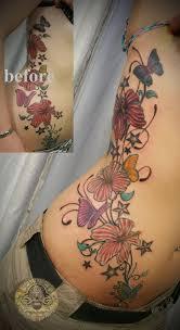 rework flowers butterflies fin by 2face tattoo on deviantart