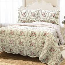 Cotton Quilted Bedspread Queen Coverlet Set French Medallion Red 100 Cotton Quilt Set