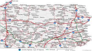 map of pa map of pennsylvania cities pennsylvania road map