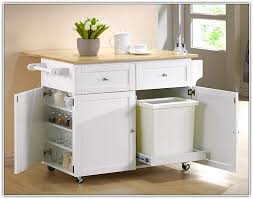 kitchen island with storage cabinets trash bin storage kitchen island home design ideas